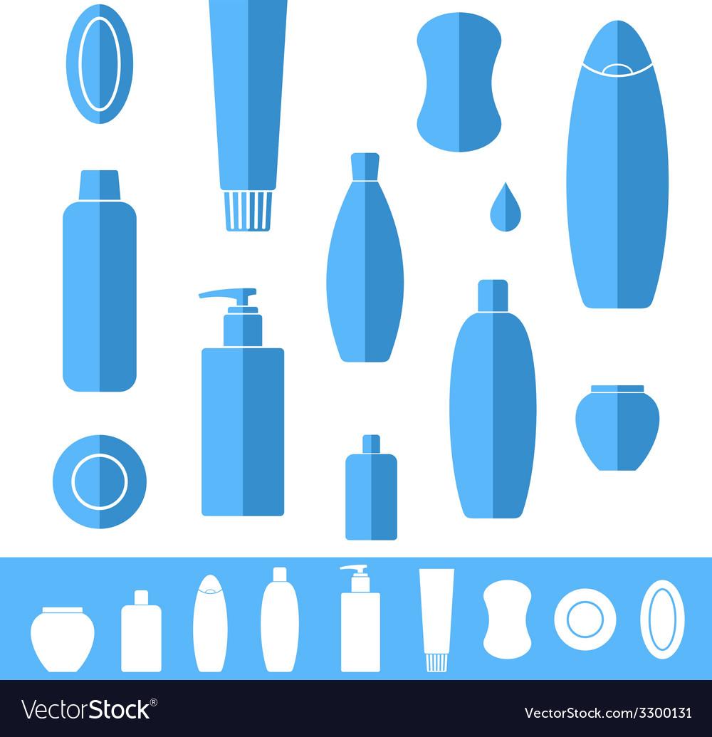 Shampoo soap icon set vector | Price: 1 Credit (USD $1)