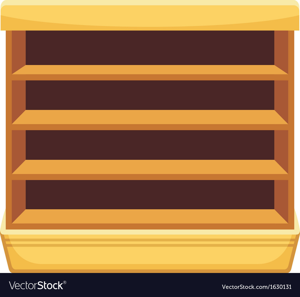 Showcase with empty shelves vector | Price: 1 Credit (USD $1)