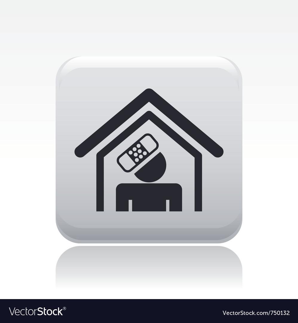 Accident domestic icon vector | Price: 1 Credit (USD $1)