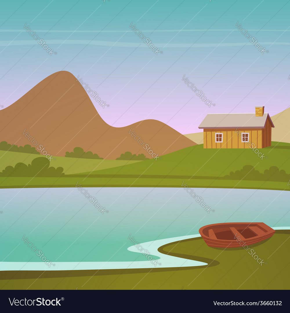 Cartoon landscape vector | Price: 3 Credit (USD $3)