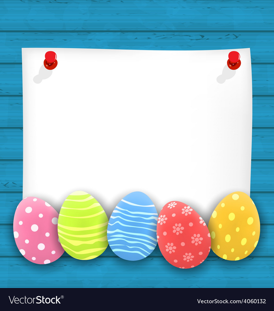 Celebration empty paper card with easter vector | Price: 1 Credit (USD $1)