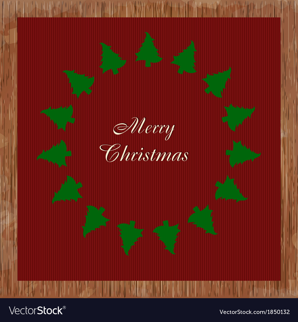 Christmas card with many trees vector | Price: 1 Credit (USD $1)