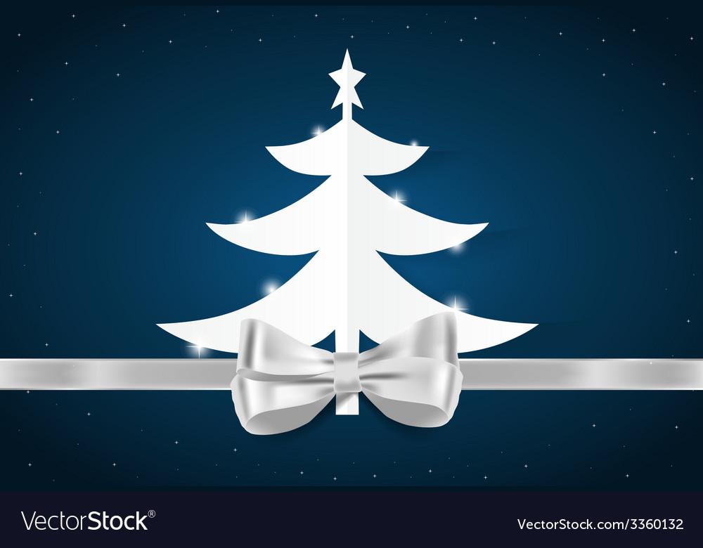 Christmas greeting card with christmas tree vector | Price: 1 Credit (USD $1)