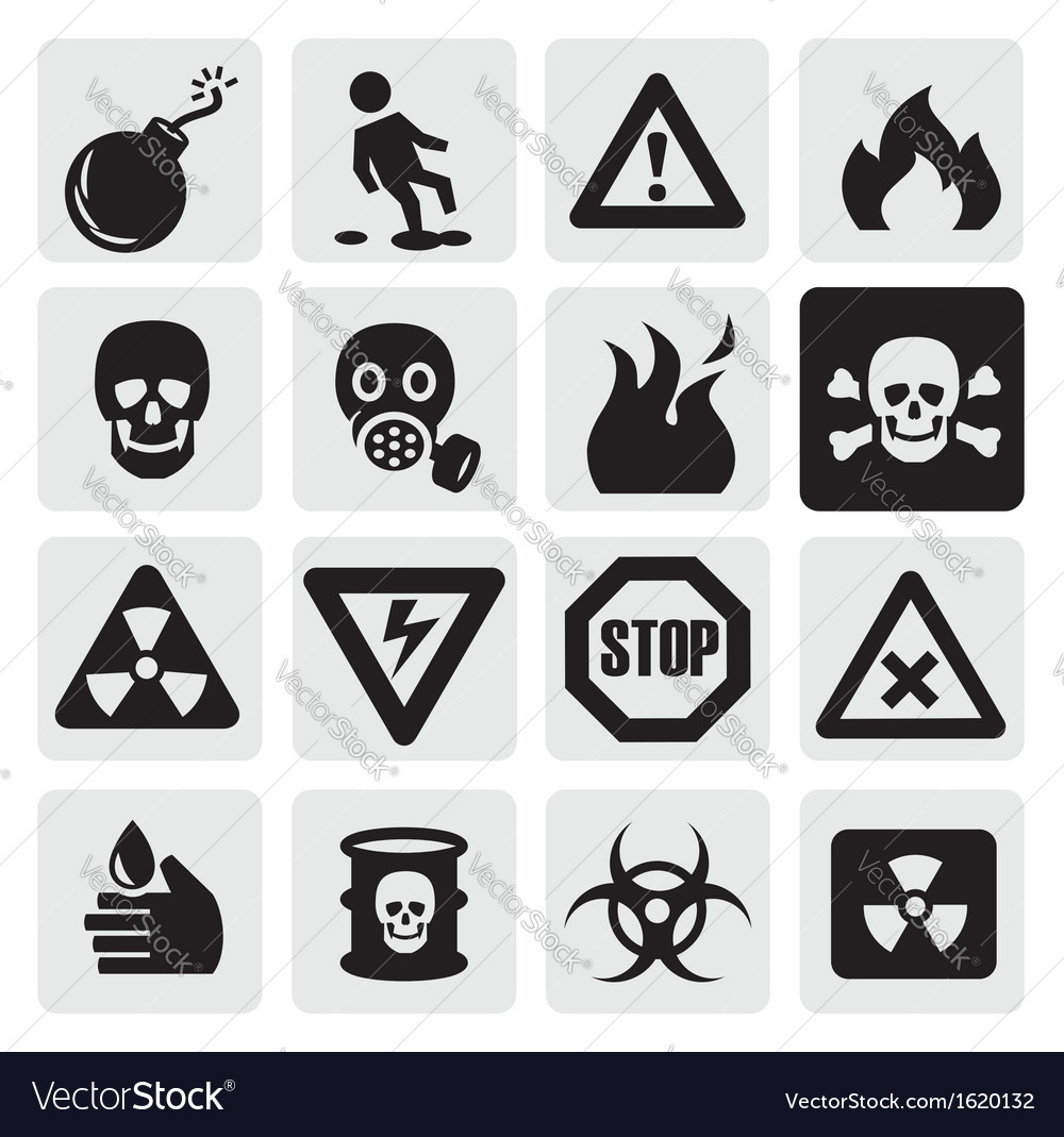 Danger icons vector | Price: 1 Credit (USD $1)