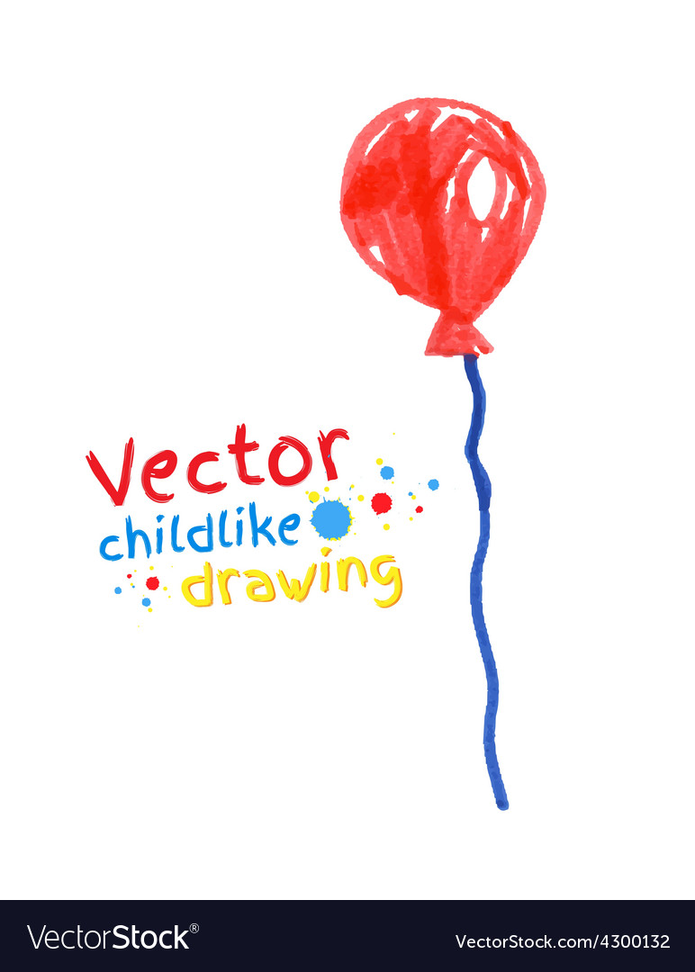 Felt pen drawing of balloon vector | Price: 1 Credit (USD $1)