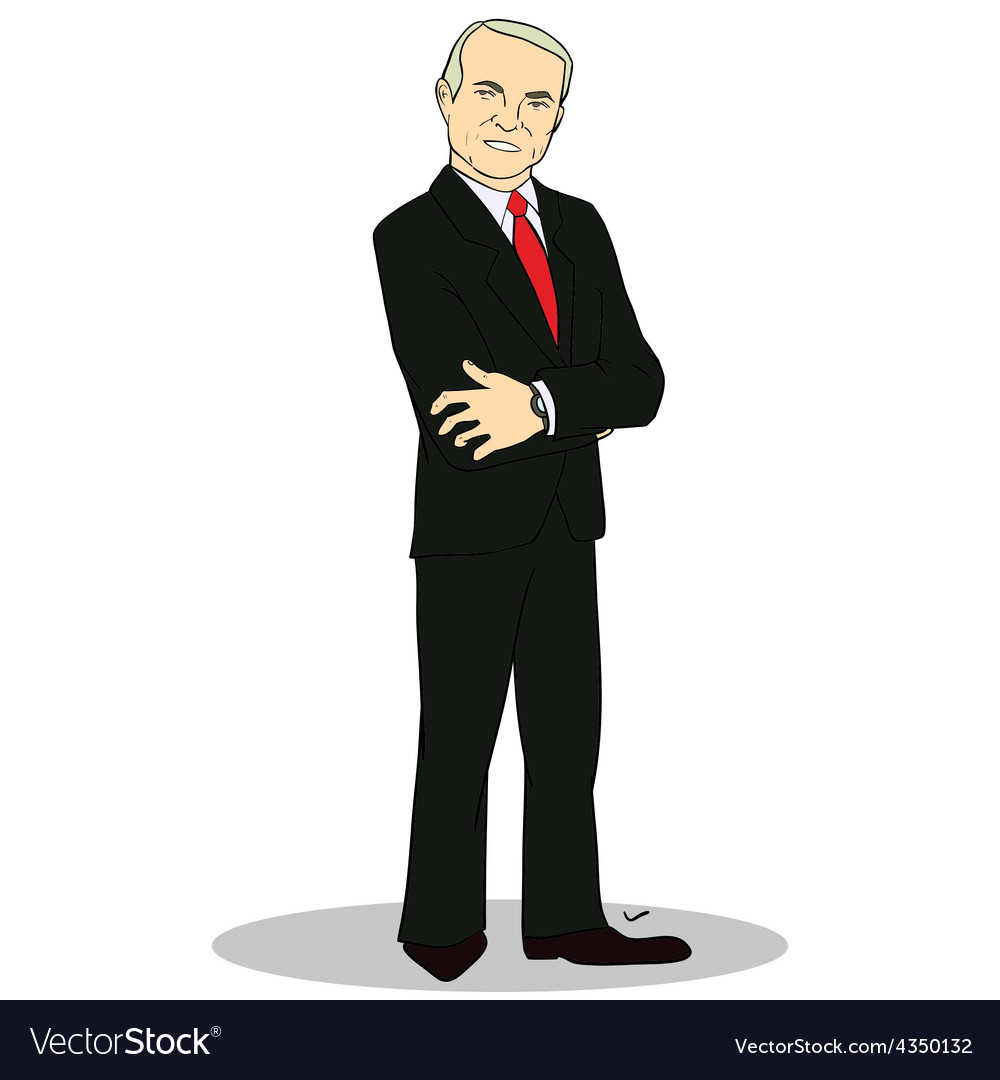 Full body portrait of experienced business man vector | Price: 1 Credit (USD $1)