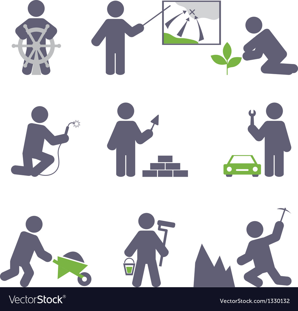 Man at work vector | Price: 1 Credit (USD $1)