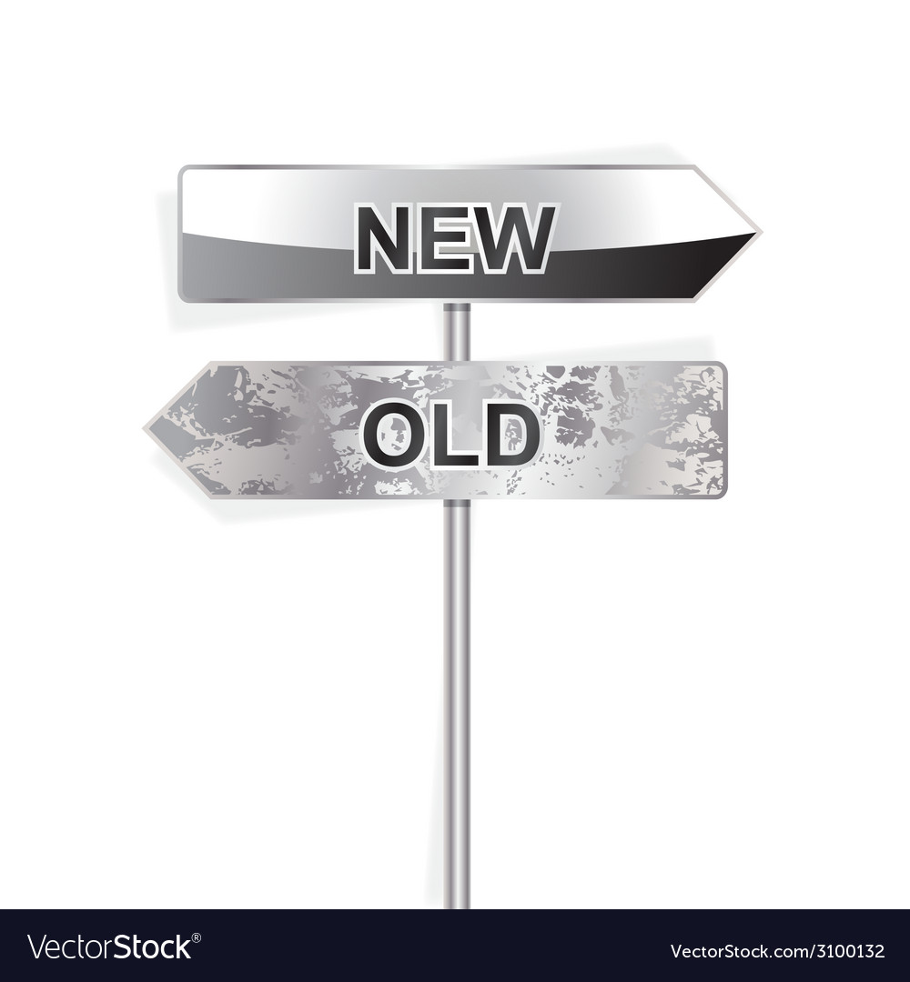 New and old indicator isolated on white vector | Price: 1 Credit (USD $1)