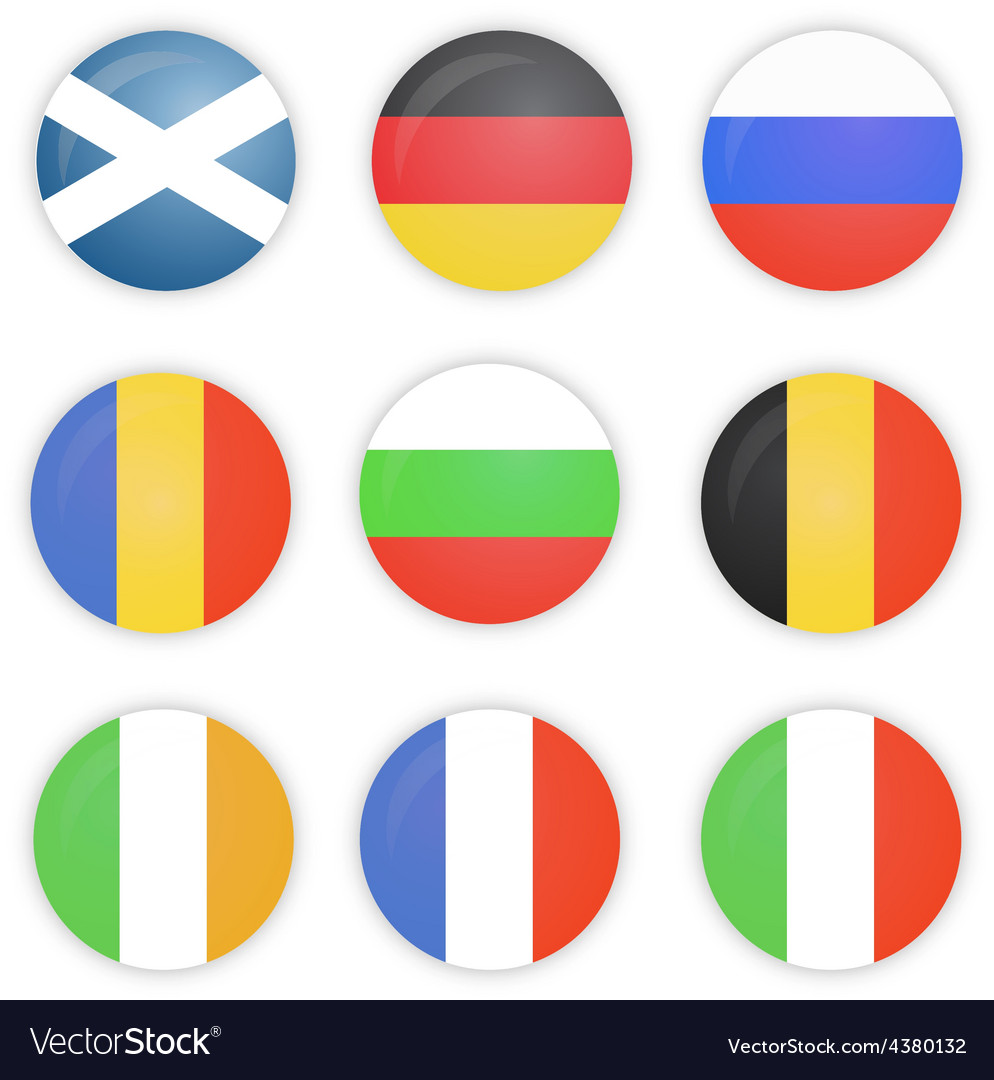 Round flags of europe countries vector | Price: 1 Credit (USD $1)