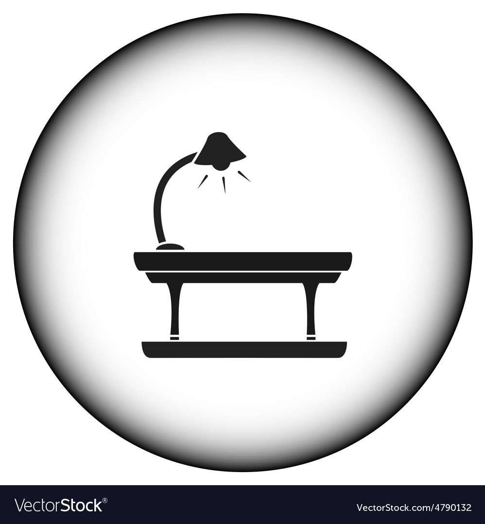 Round icon with table lamp vector | Price: 1 Credit (USD $1)