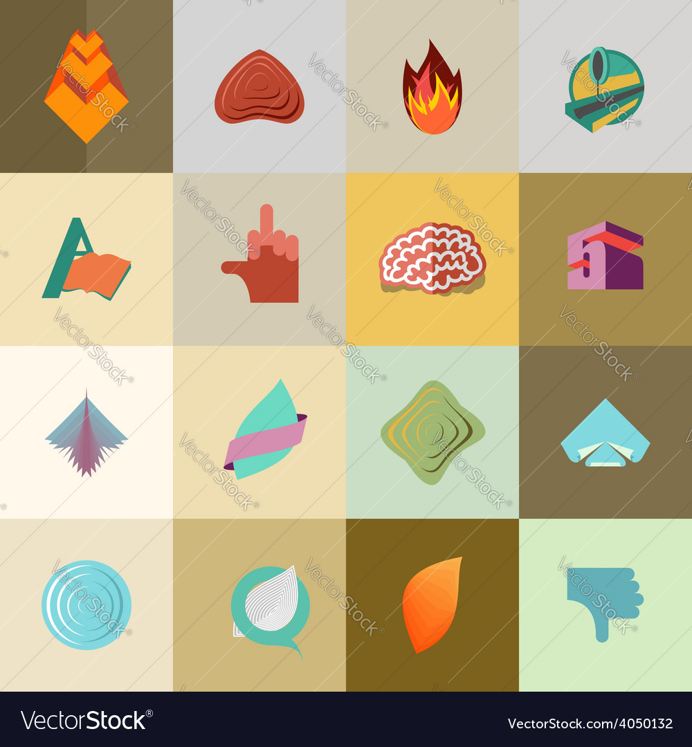 Set logo design elements collection vector | Price: 1 Credit (USD $1)