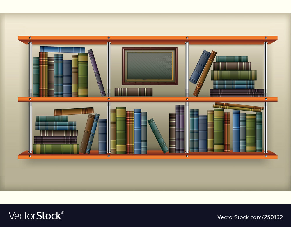 Shelf with books vector | Price: 3 Credit (USD $3)