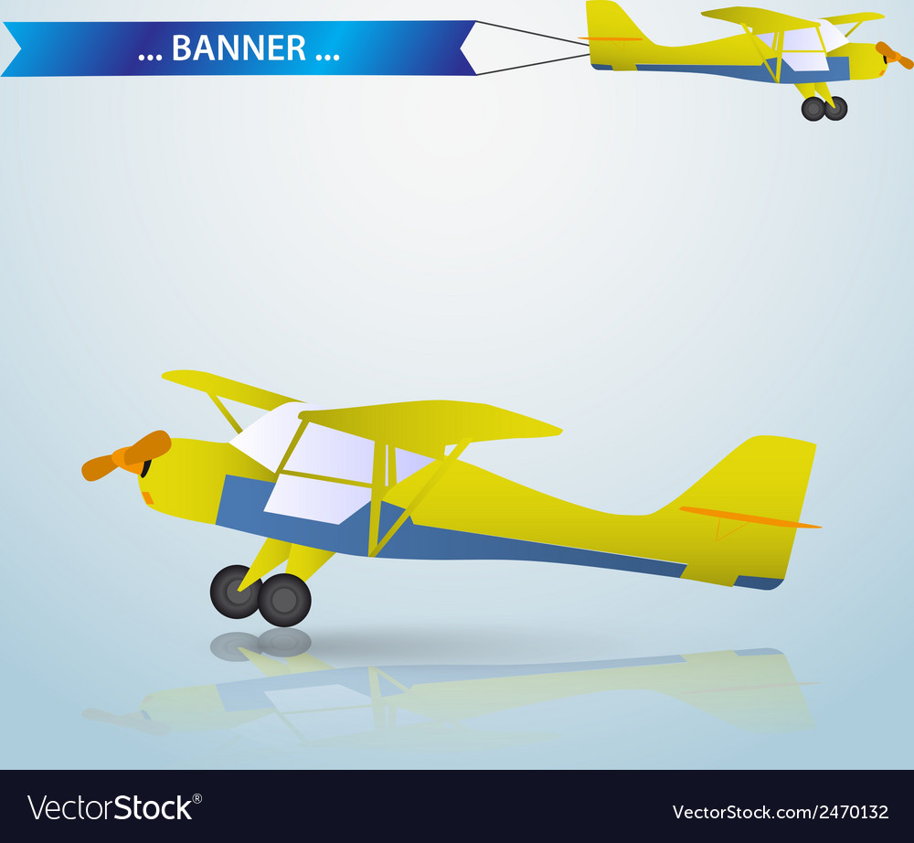 Small airplane eps10 vector | Price: 1 Credit (USD $1)