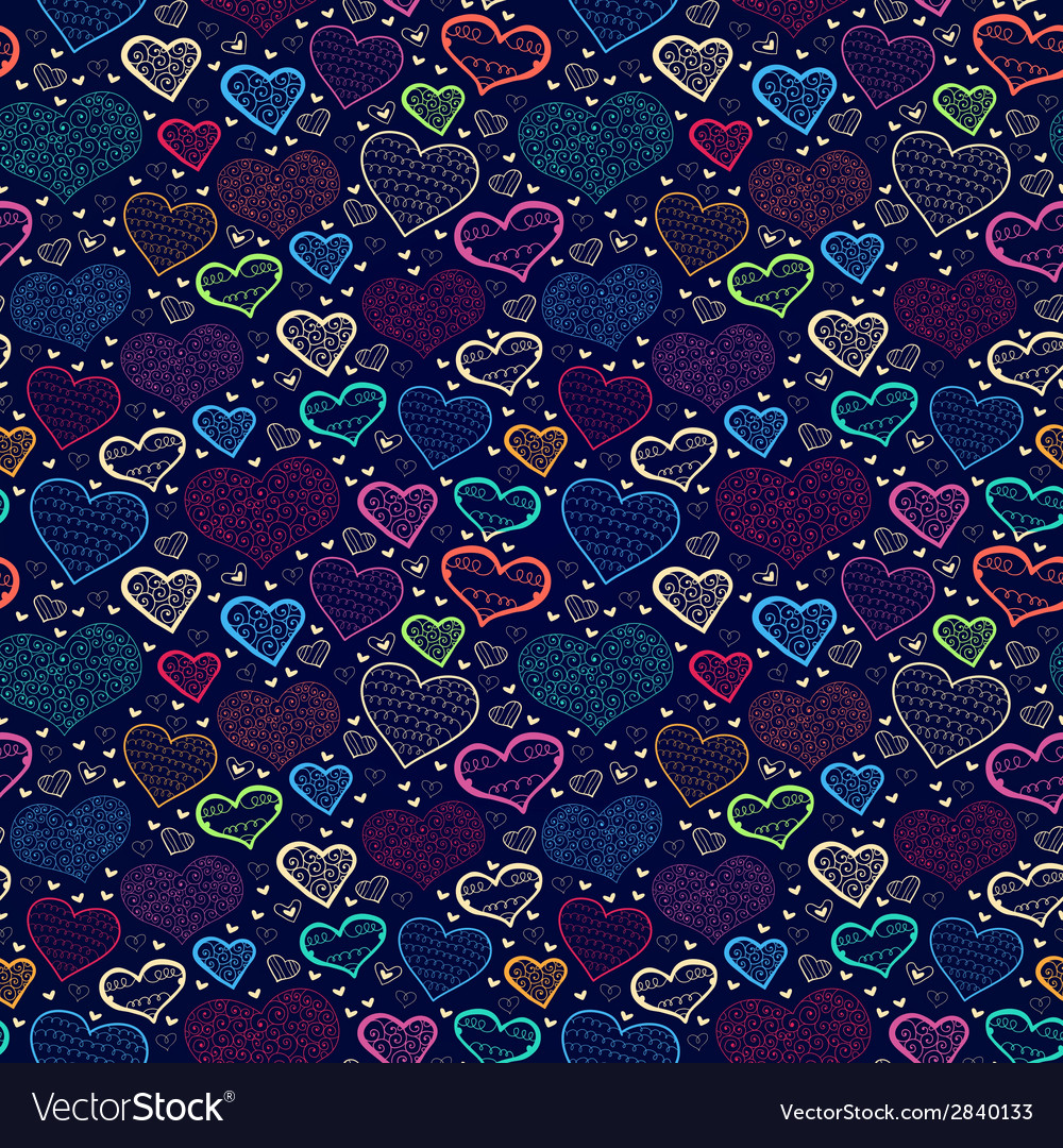 Abstract bright love seamless background with vector | Price: 1 Credit (USD $1)