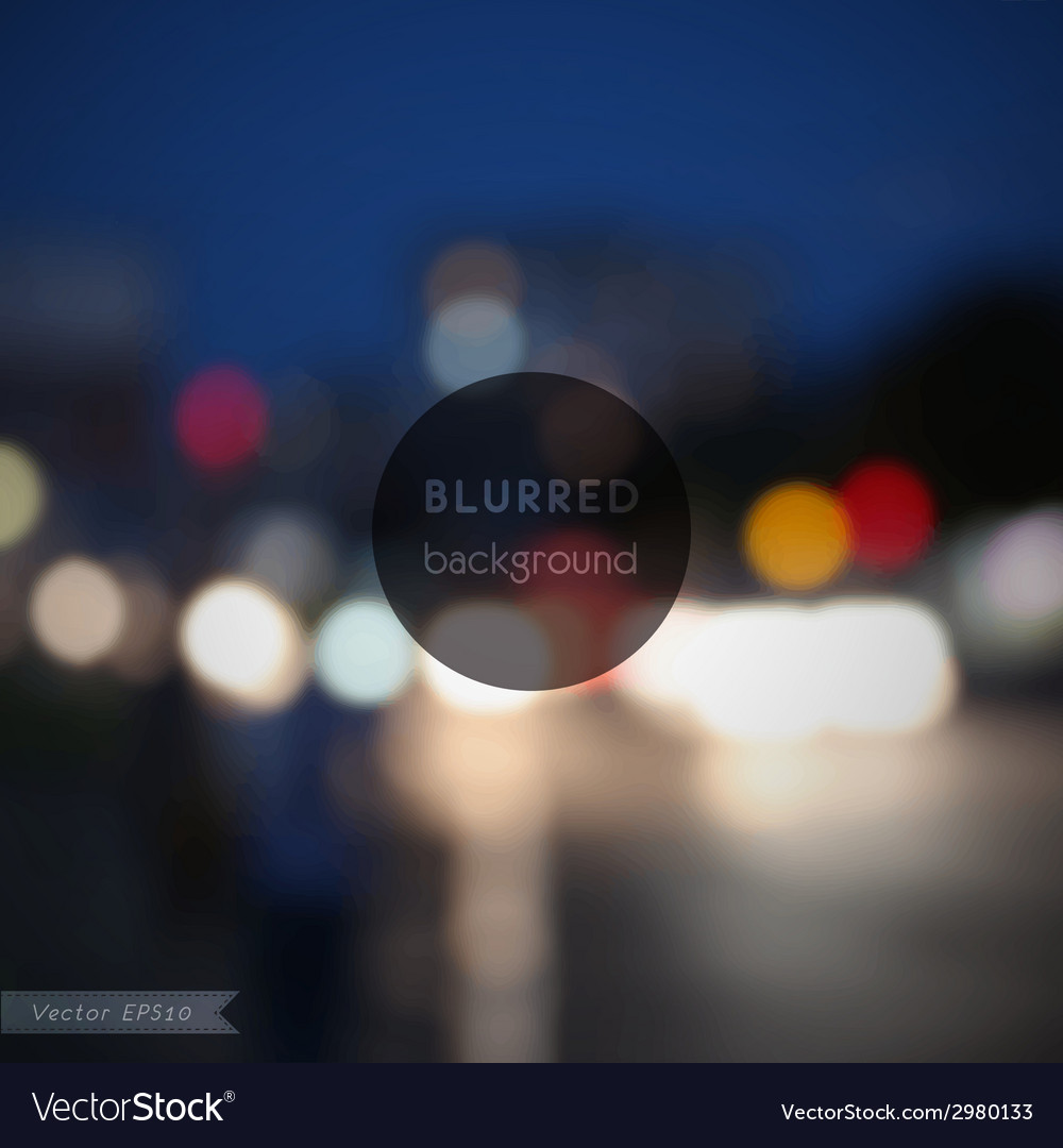 Background blurred defocused lights of heavy vector | Price: 1 Credit (USD $1)