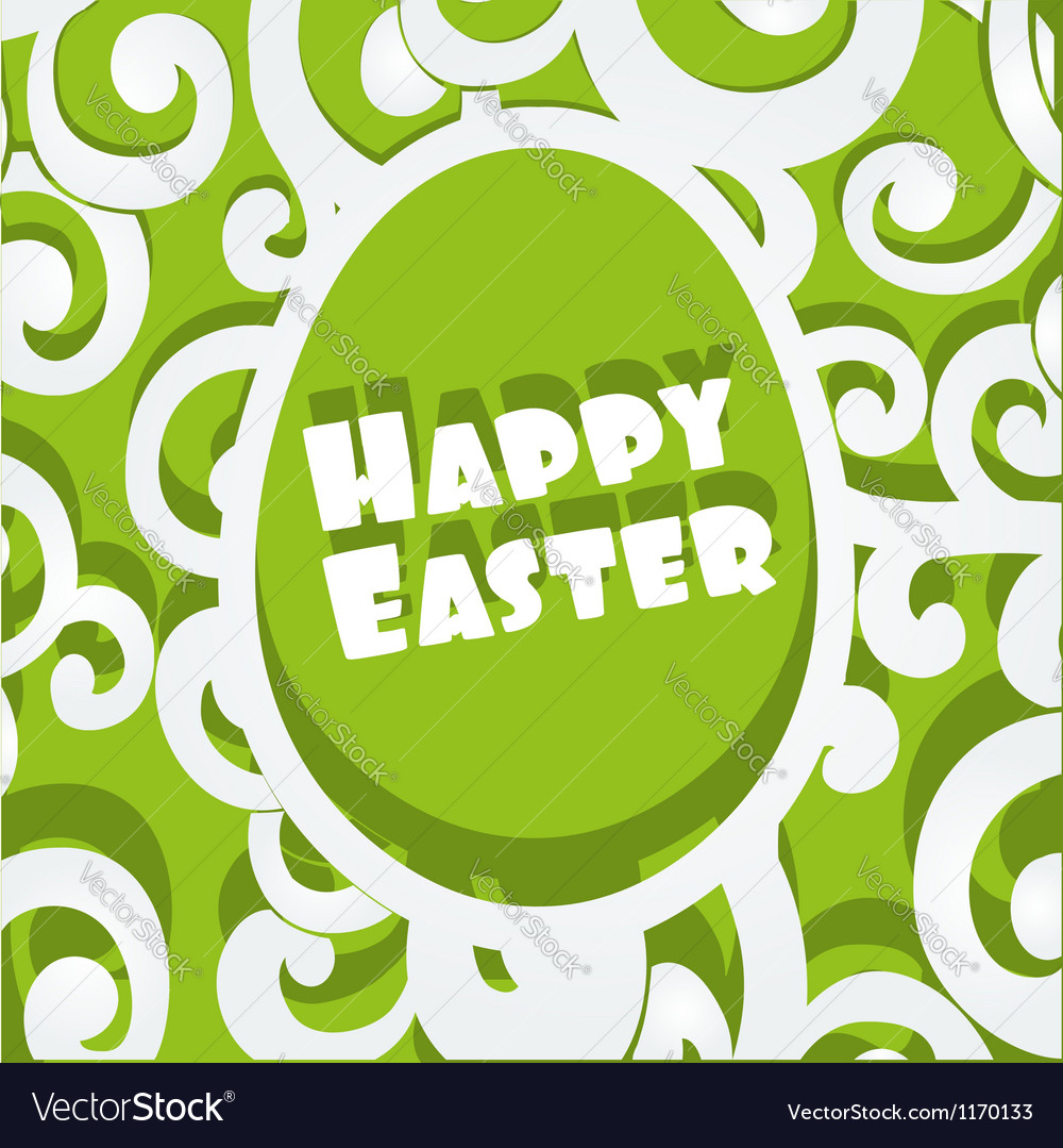 Happy easter egg openwork appliques banner vector | Price: 1 Credit (USD $1)