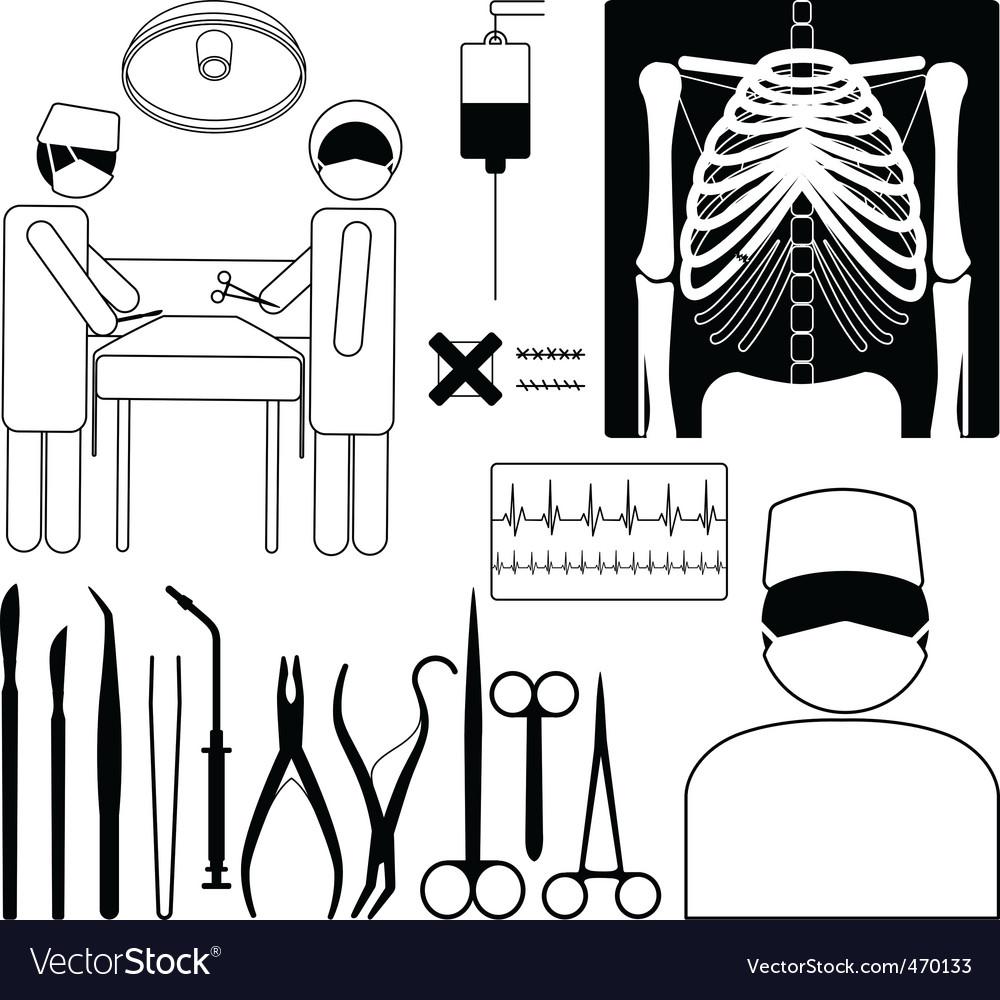 Medical icon set vector | Price: 1 Credit (USD $1)