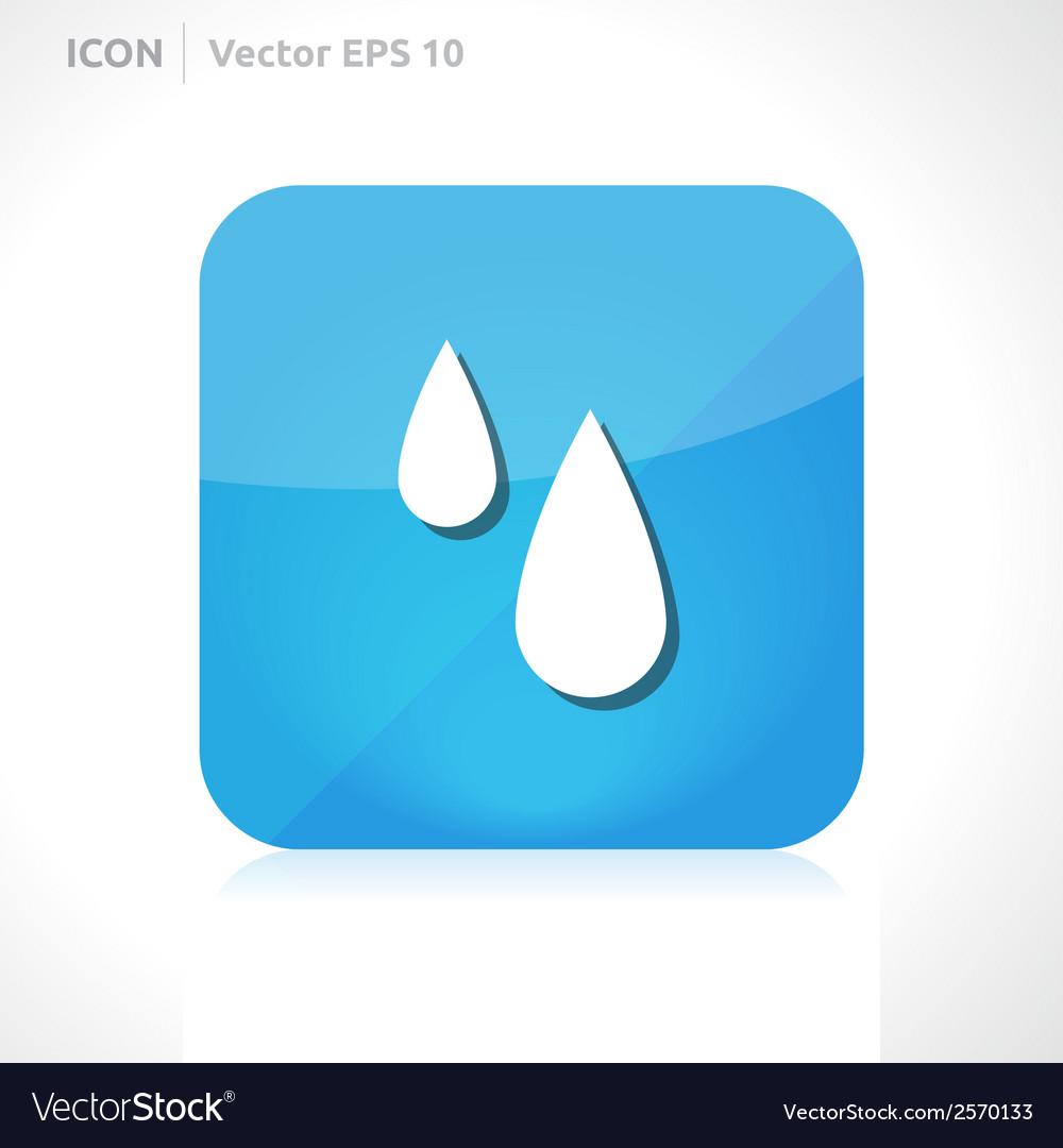Rain drops icon vector | Price: 1 Credit (USD $1)