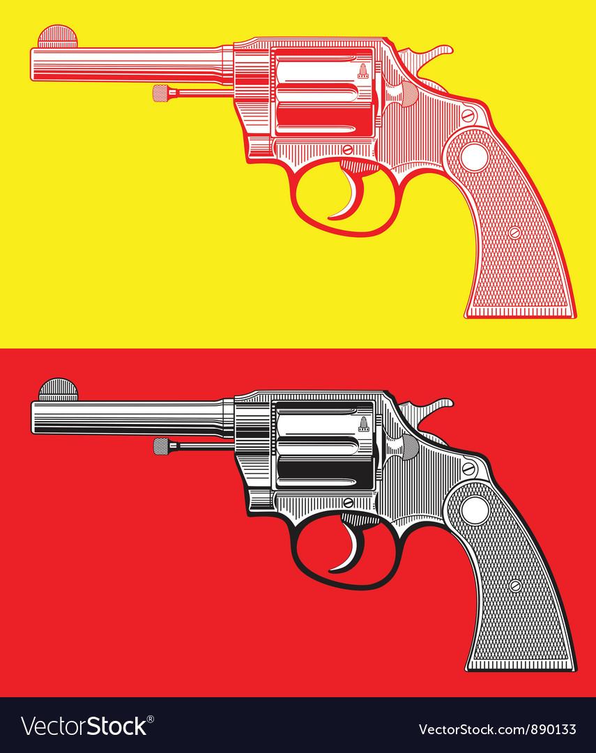 Revolver gun vector | Price: 3 Credit (USD $3)