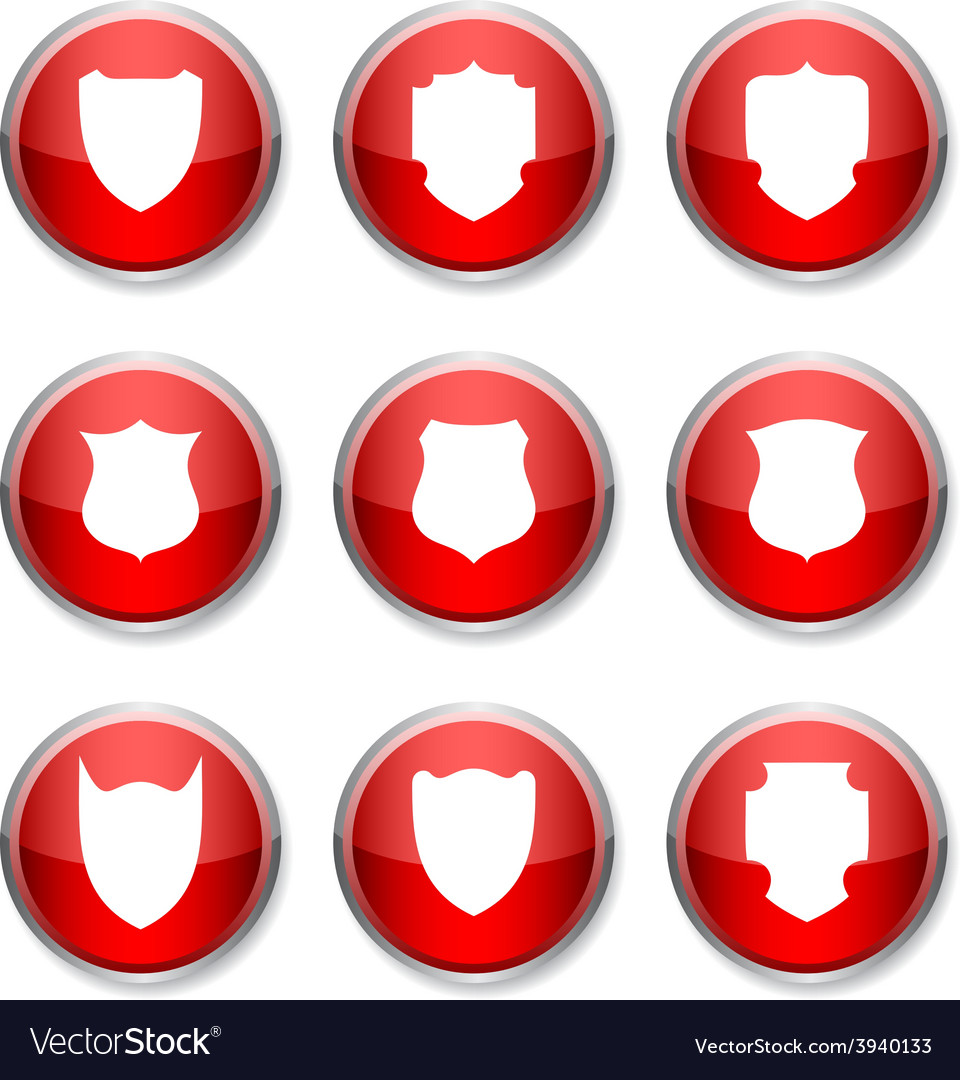 Shield round icons vector | Price: 1 Credit (USD $1)