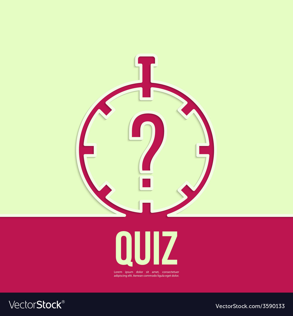 Timer with a question vector | Price: 1 Credit (USD $1)