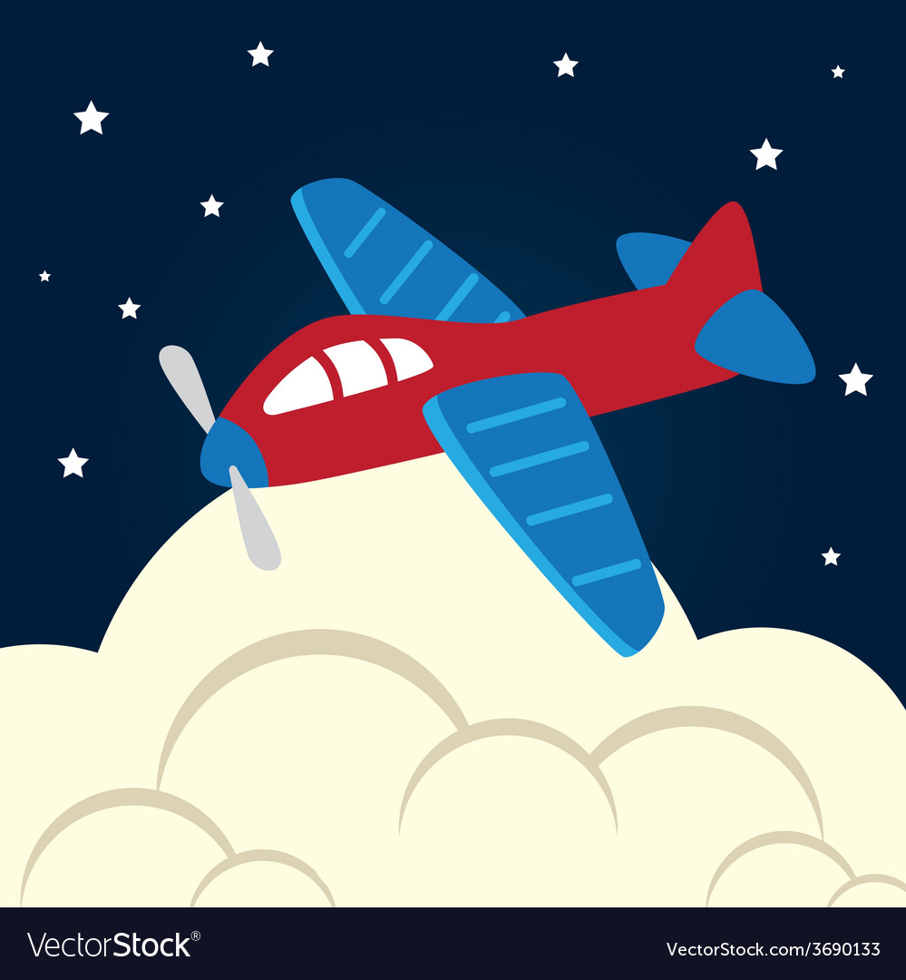 Toys design over cloudscape background vector | Price: 1 Credit (USD $1)