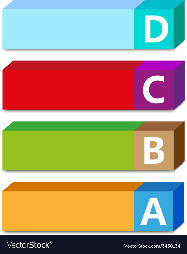Abc color tags vector | Price: 1 Credit (USD $1)