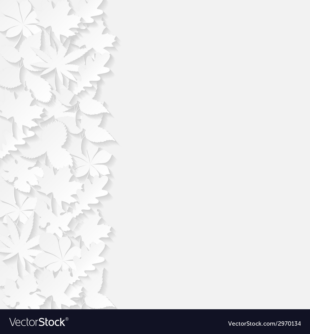 Abstract background with paper leaves vector | Price: 1 Credit (USD $1)