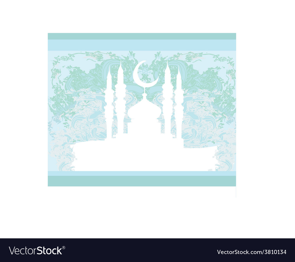 Artistic pattern background with mosque vector | Price: 1 Credit (USD $1)