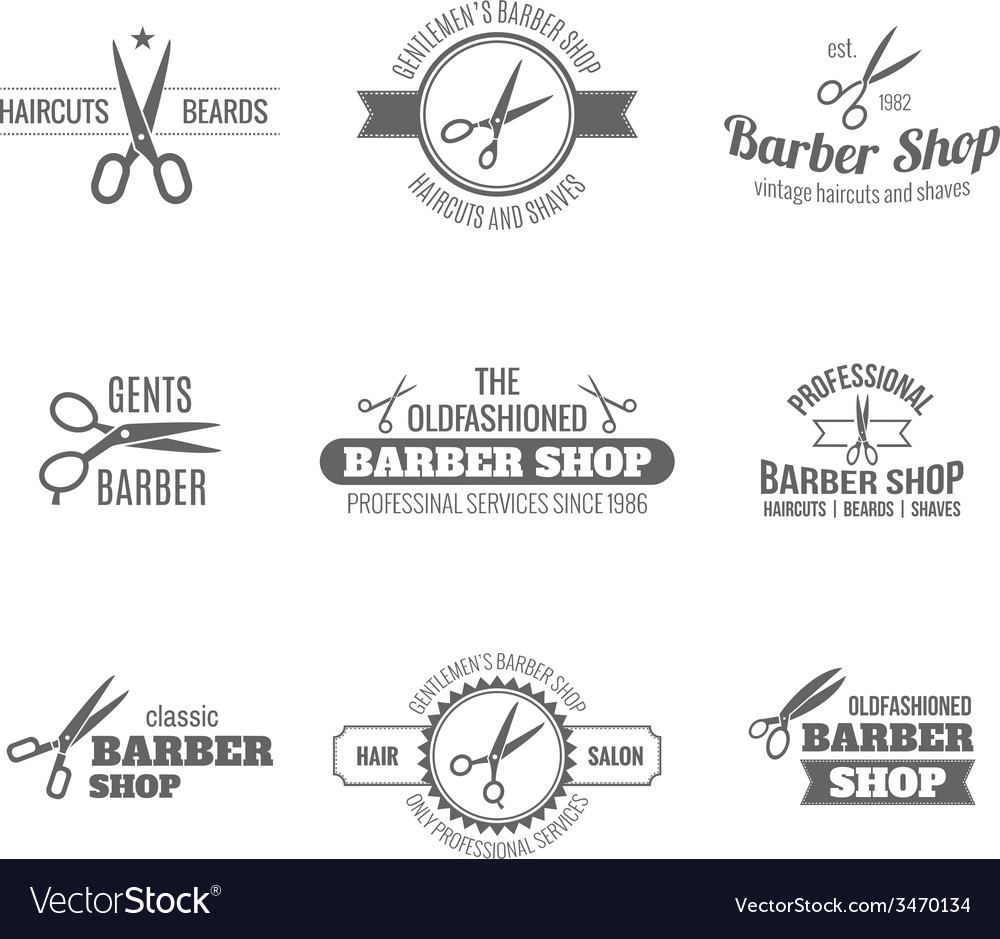 Barber label black vector | Price: 1 Credit (USD $1)