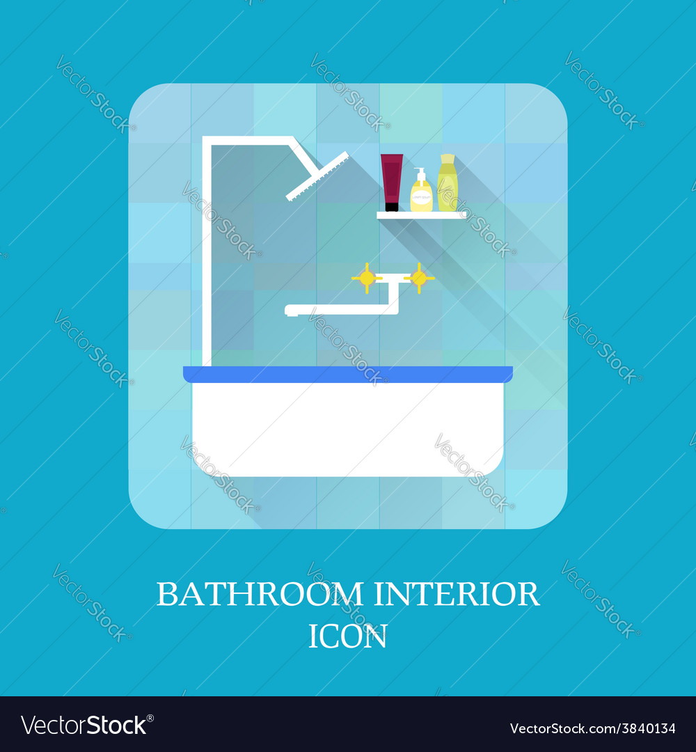 Bathroom interior icon shampoo and soap vector | Price: 1 Credit (USD $1)