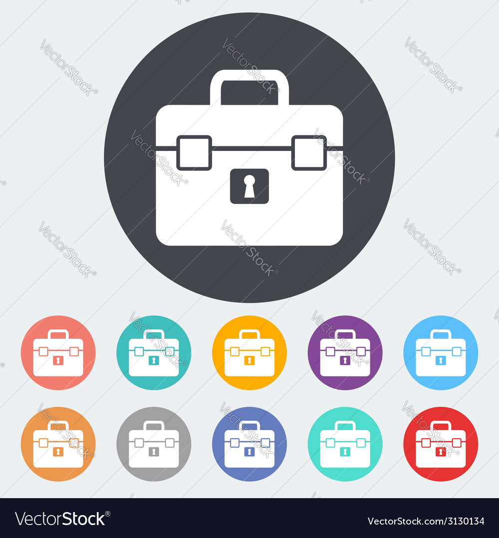 Briefcase single icon vector | Price: 1 Credit (USD $1)