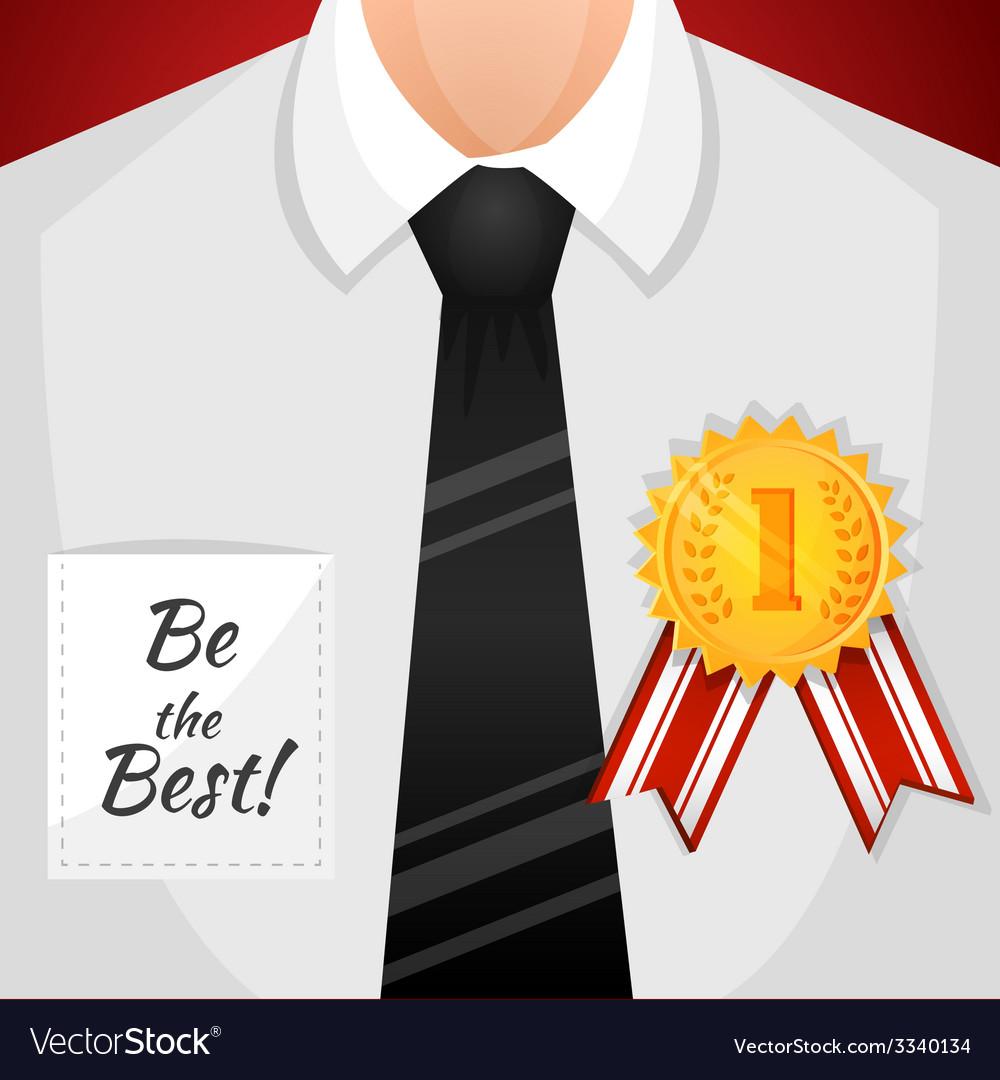 Businessman winner background vector | Price: 1 Credit (USD $1)