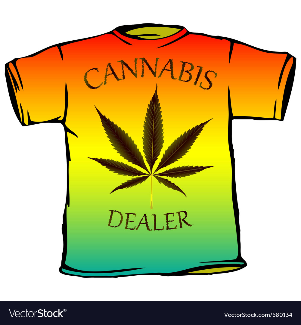 Cannabis tshirt vector | Price: 1 Credit (USD $1)