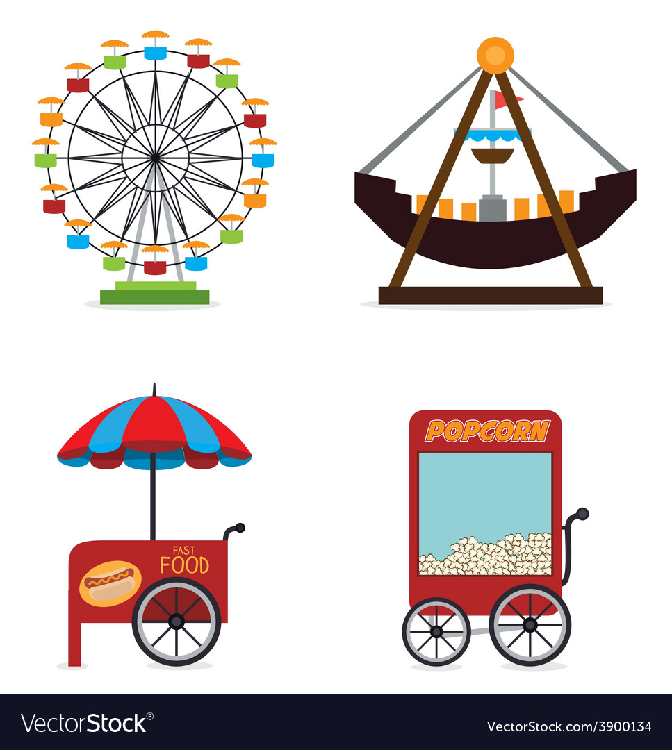 Carnival design over white background vector | Price: 1 Credit (USD $1)
