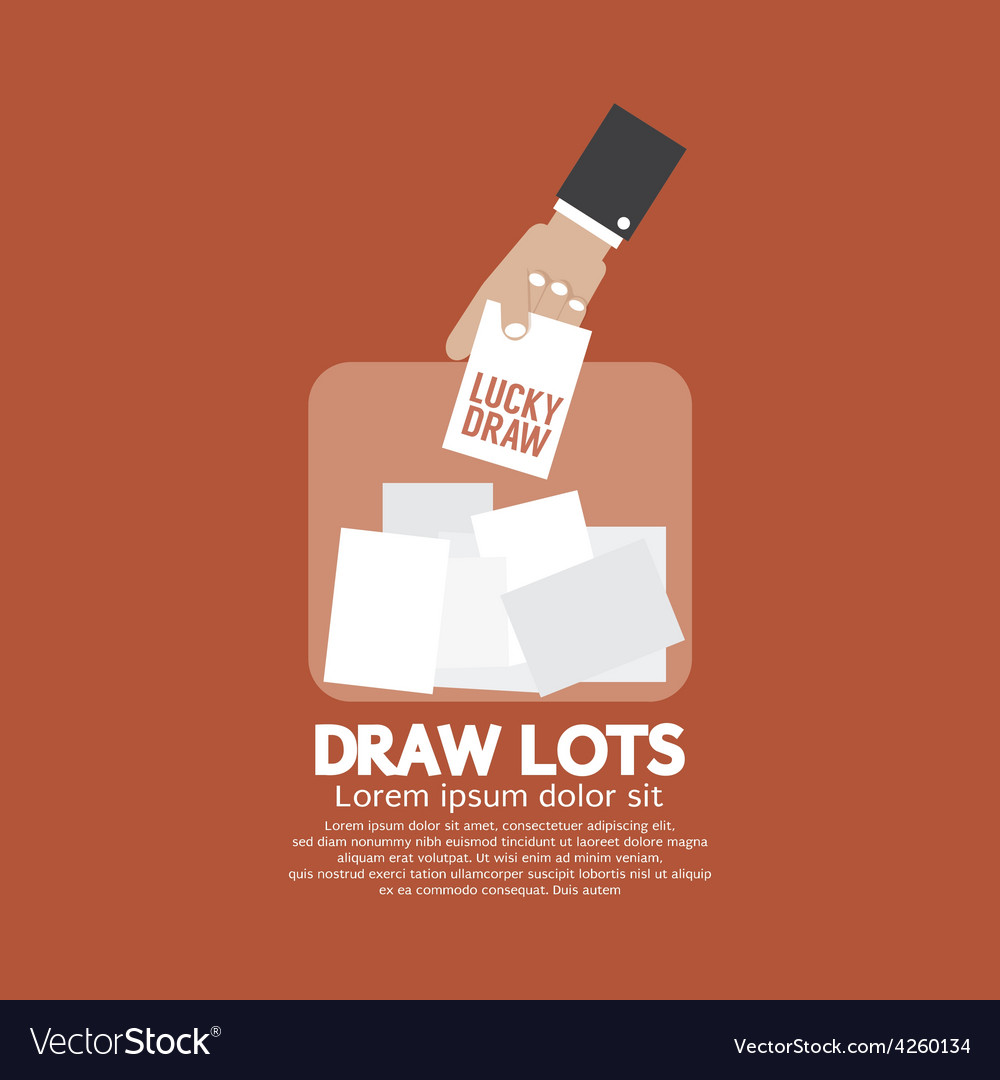 Draw lots risk taking concept vector   Price: 1 Credit (USD $1)
