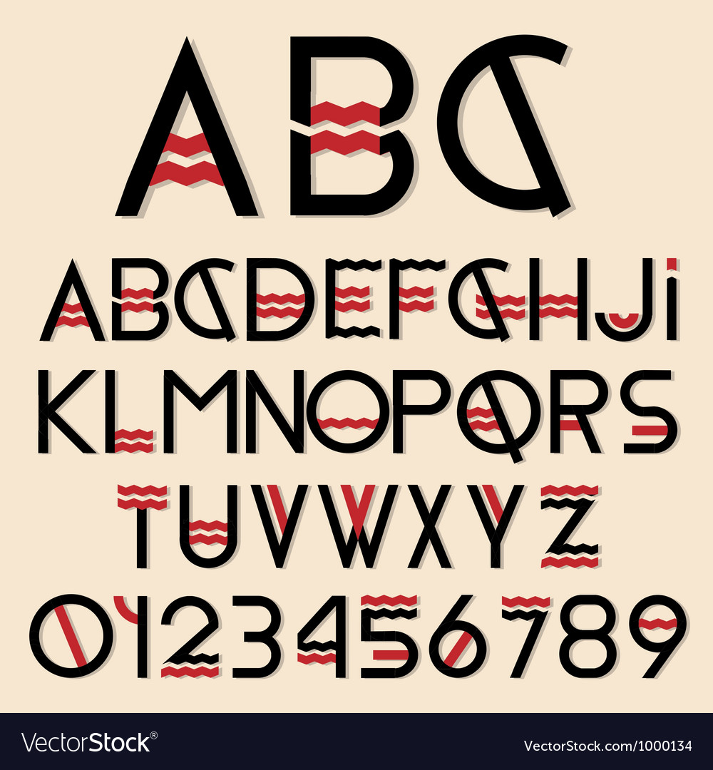 Font and numbers vector | Price: 3 Credit (USD $3)