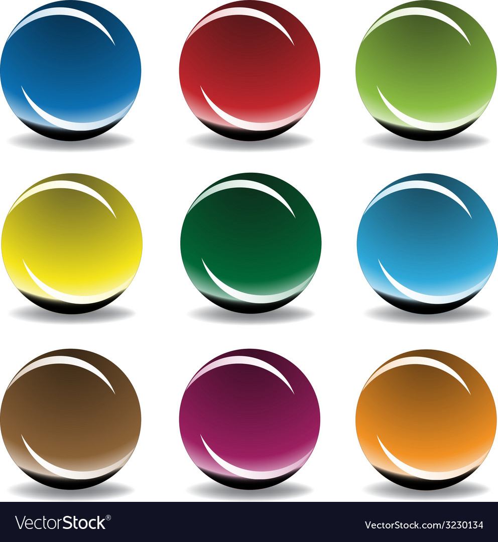 Glass spheres - vector | Price: 1 Credit (USD $1)