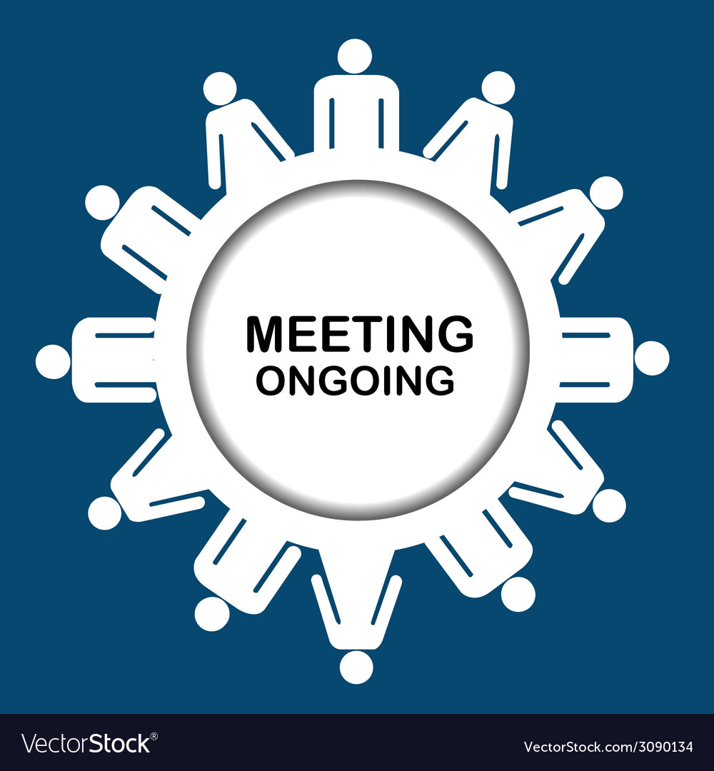 Meeting outgoing icon vector | Price: 1 Credit (USD $1)