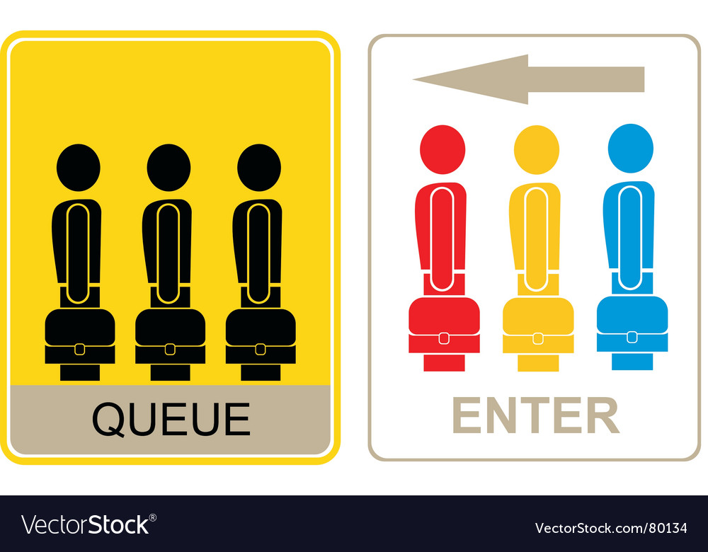 Queue and enter vector | Price: 1 Credit (USD $1)