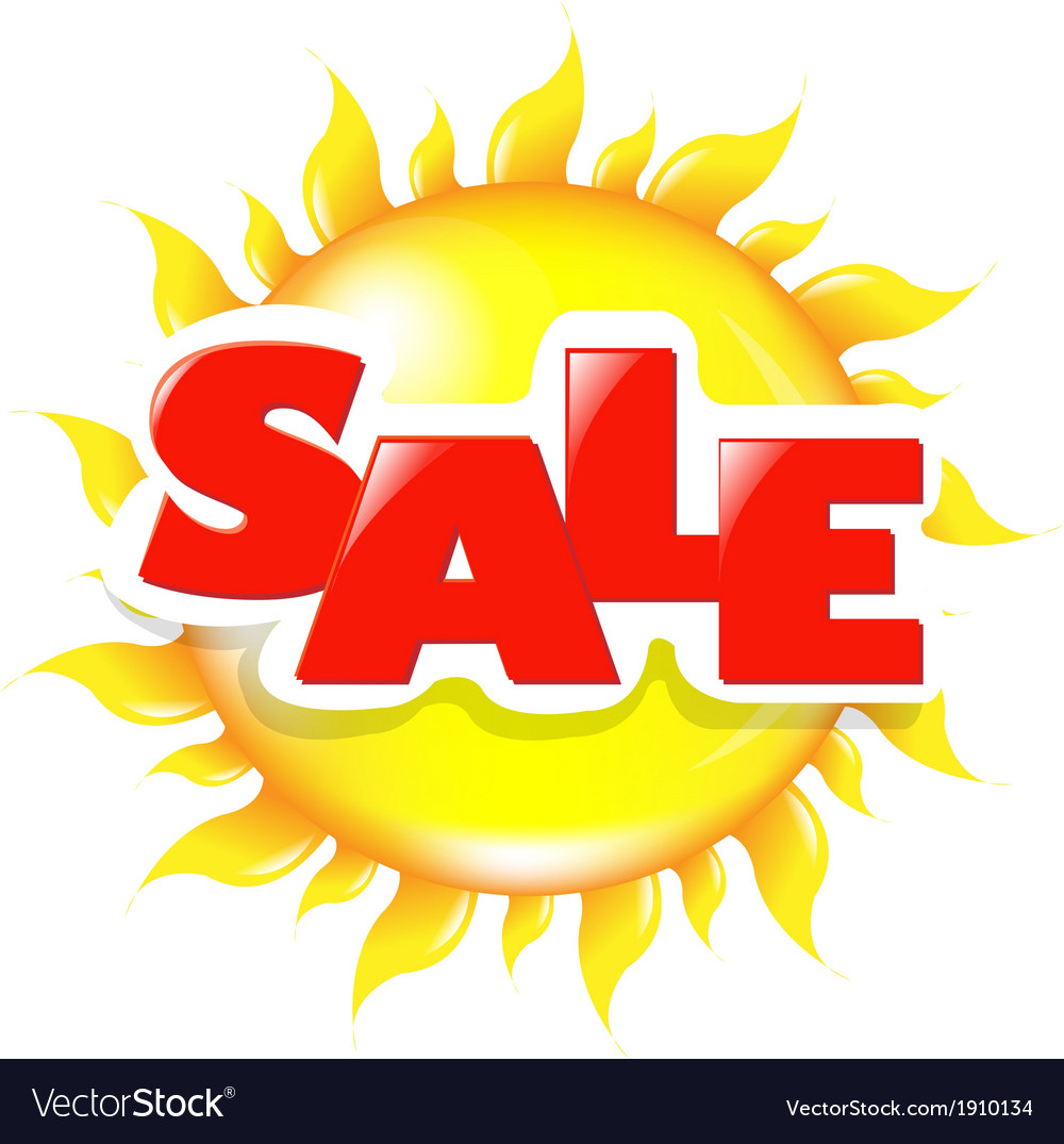 Sun poster sale vector | Price: 1 Credit (USD $1)