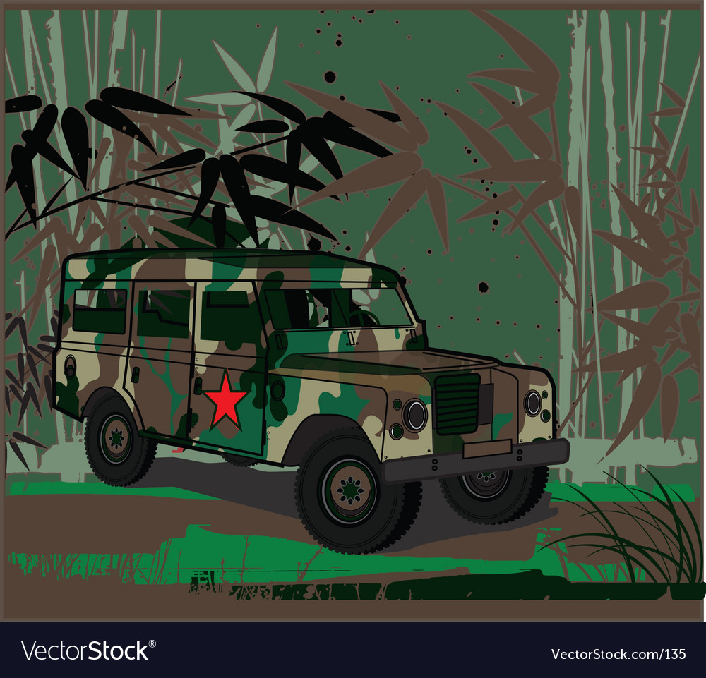 Army jeep vector | Price: 1 Credit (USD $1)