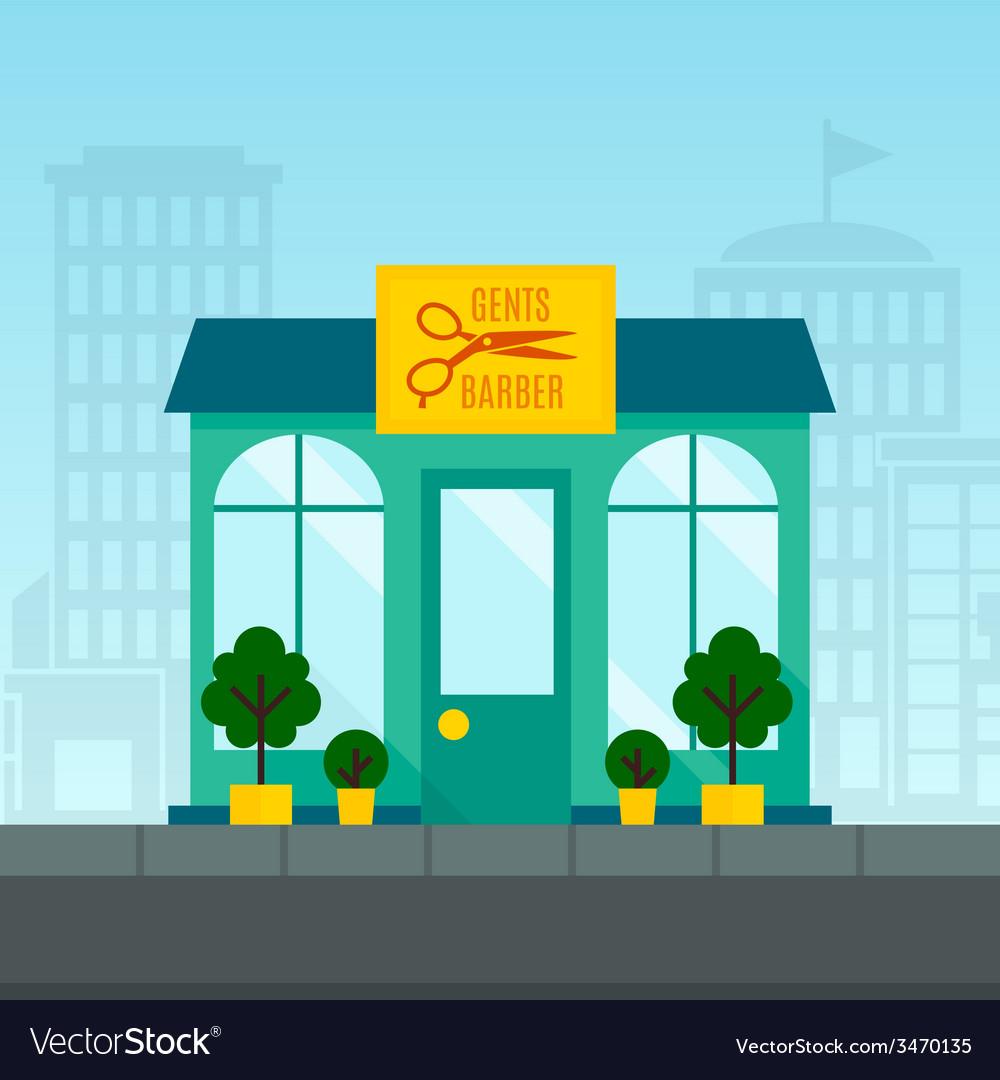 Barbershop flat background vector | Price: 1 Credit (USD $1)