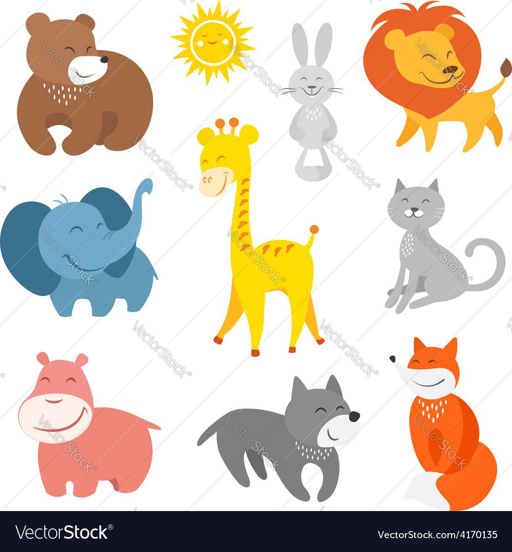 Cartoon animals zoo vector | Price:  Credit (USD $)