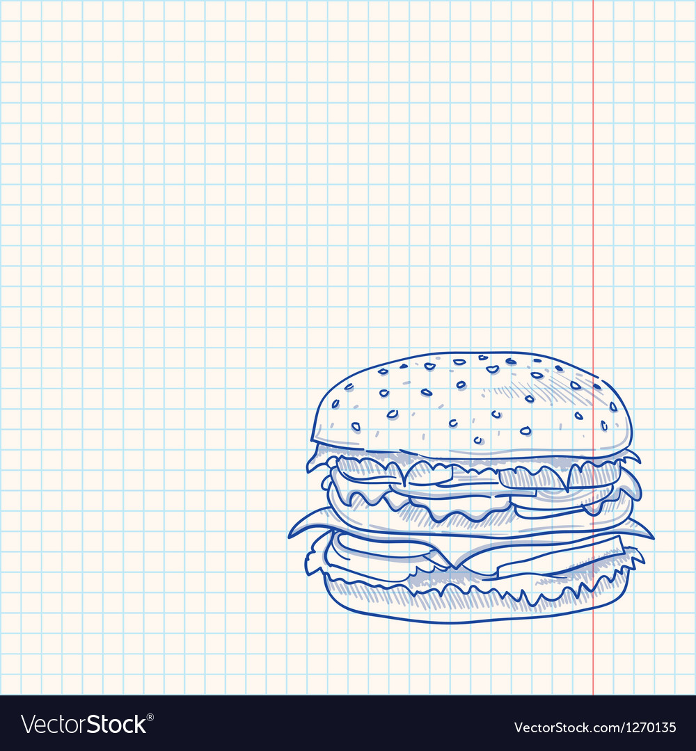 Hamburger sketch vector | Price: 1 Credit (USD $1)