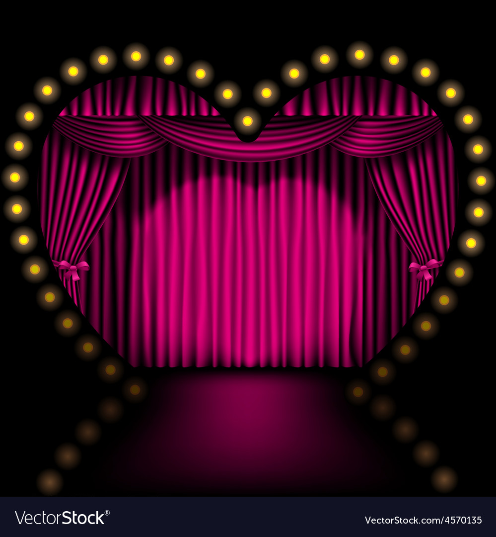 Heart shape stage vector | Price: 1 Credit (USD $1)