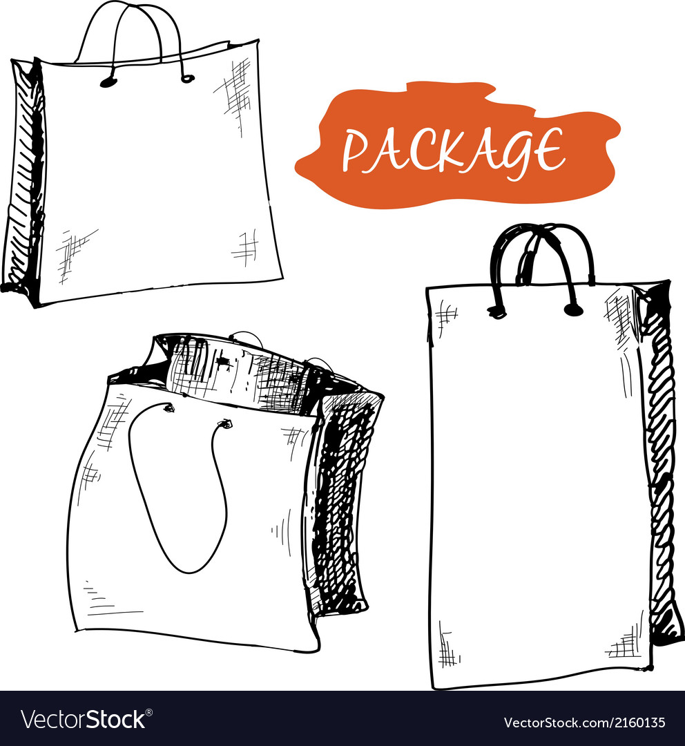 Set of package vector | Price: 1 Credit (USD $1)