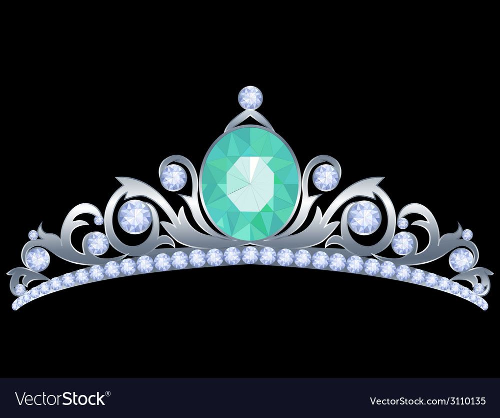 Silver tiara vector | Price: 1 Credit (USD $1)