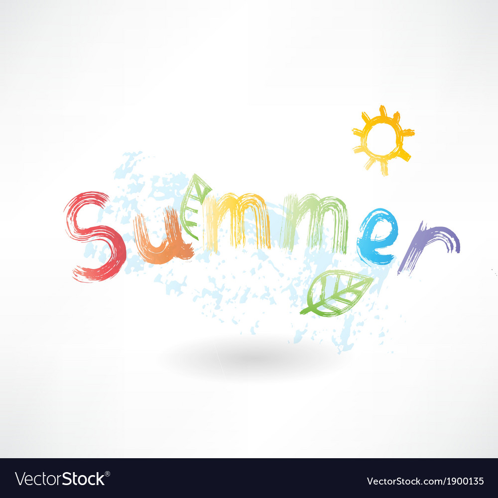 Summer by letters grunge icon vector | Price: 1 Credit (USD $1)