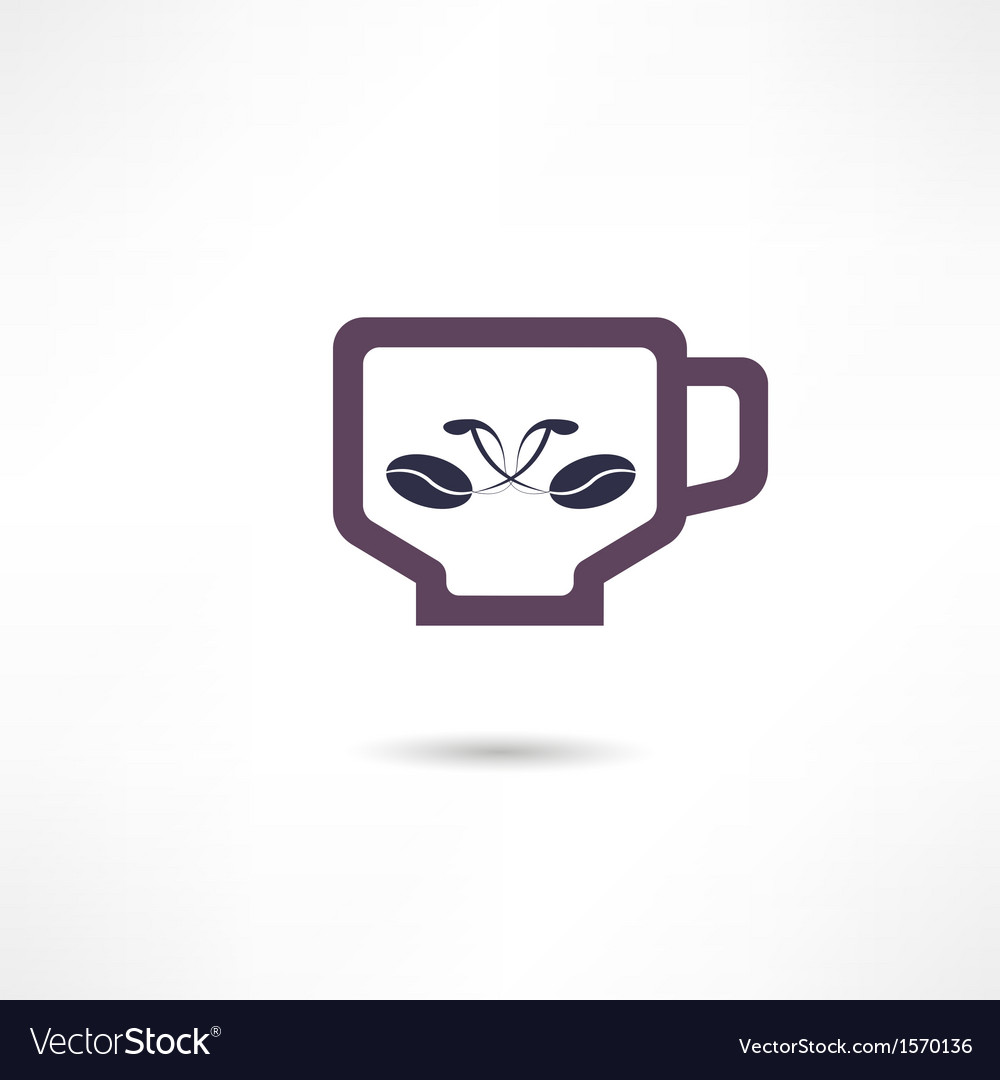 A cup of coffee icon vector | Price: 1 Credit (USD $1)